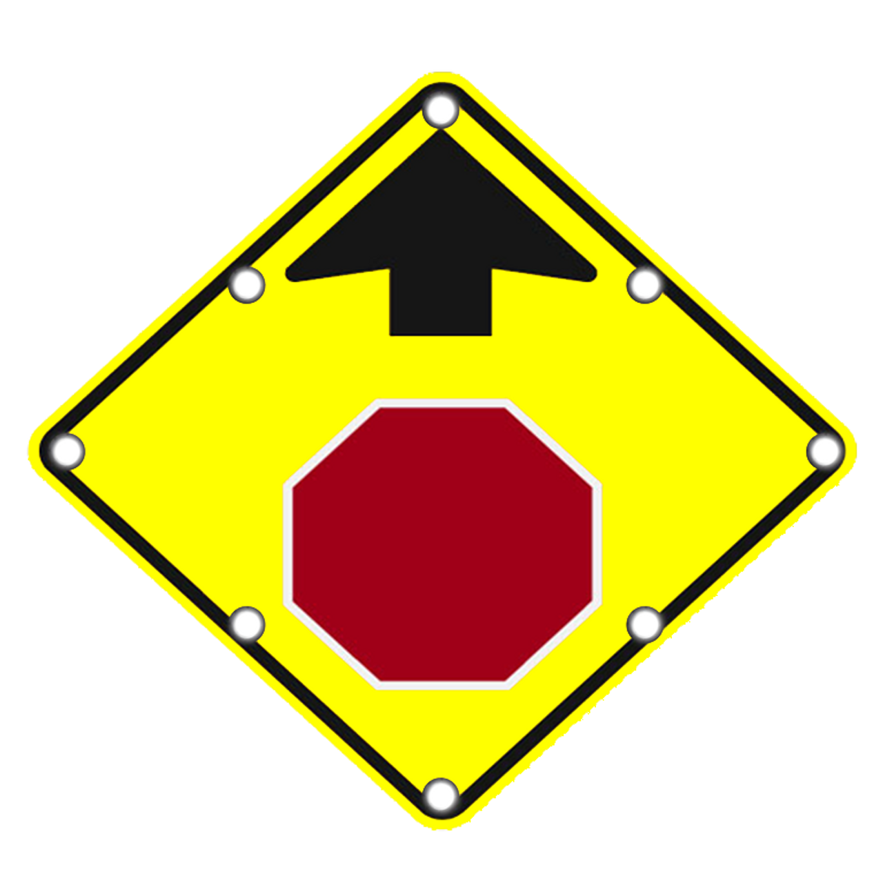 Stop Ahead Signs Solar Led Signs Dornbos Sign And Safety