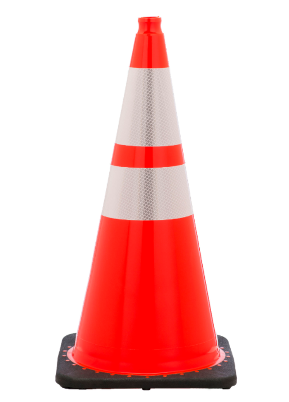 28 Quot Traffic Cone With Reflective From Dornbos Sign
