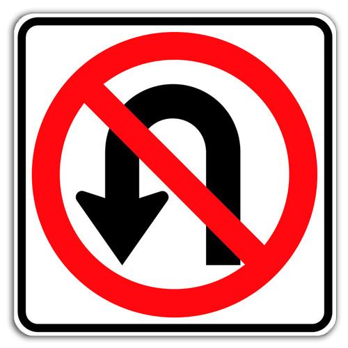 No U Turn Sign Traffic Signs No U Turn Dornbos Sign