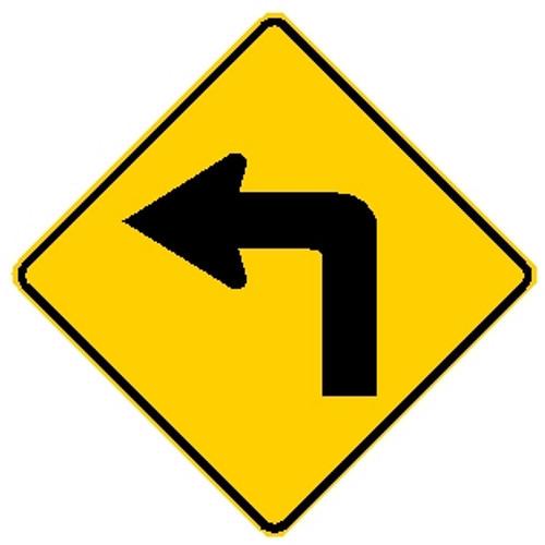 Left Turn Sign Left Turn Road Sign Left Signs