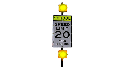 School Zone Speed Limit Sign Flashing Speed Limit Sign
