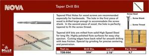 9/64 Tapered Drill Bit