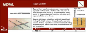 Dimar TDB-1/4  Size 1/4 Tapered Drill Bit