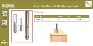 Dimar 101R82-2  FLUSH TRIM BIT 1/2X1/2IN