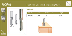 Dimar 101R38-1  FLUSH TRIM BIT 3/8X1