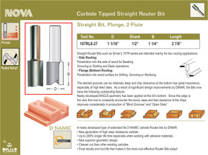 1 1/16 STRAIGHT ROUTER BIT