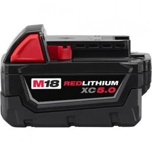 Milwaukee 48-11-1850  M18 REDLITHIUM XC 5.0ah Extended Capacity Battery Pack