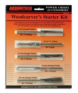 Arbortech PCH.FG.033  WoodCarvers Starter Kit of 5 Chisels