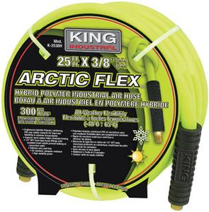 "King Canada K-2538H  Arctic Flex Industrial Air Hose, 25' x 3/8"" ID"