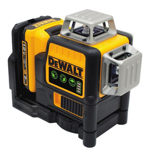 Dewalt DW089LG  Dewalt 3 Beam Green Laser W/ 12v Battery & Adapt