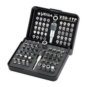 Vega Industries VEGA-V50-1TP  50pc Industrial Security Driver Bit Set