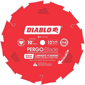 "10"" x 12-Tooth Polycrystalline Diamond (PCD) Tipped Ultimate Flooring Blade"