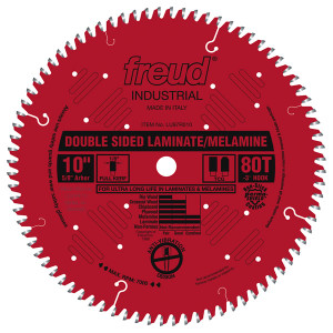 "10"" 80 Tooth TCG Double Sided Laminate/ Melamine Saw Blade"