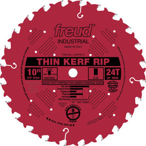 "10"" 24 Tooth FTG Thin Kerf Rip Saw Blade"