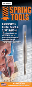 """Spring Tools SPR-32R021  Combination Center Punch & 1/16"""" Nail Set"""