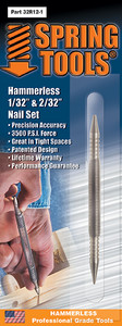 """Spring Tools SPR-32R121  Double Ended 1/32"""" & 1/16"""" Nail Set"""