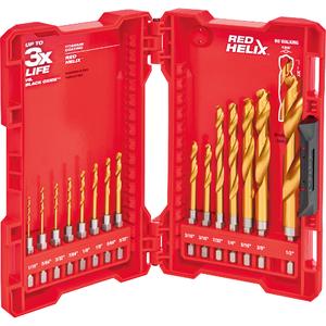 15 Piece TiN Shockwave Drill Bit Kit