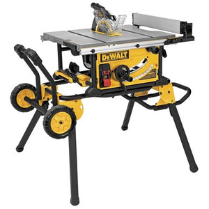 10-Inch Jobsite Table Saw with 32-1/2-Inch Rip Capacity and Rolling Stand