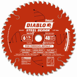 6-1/2-Inch X 48-Tooth Steel Demon TCG Ferrous Cutting Circular Saw Blade 5/8-Inch Arbor