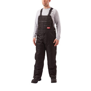 Men's GRIDIRON Black Zip-to-Thigh Bib Tall Overall