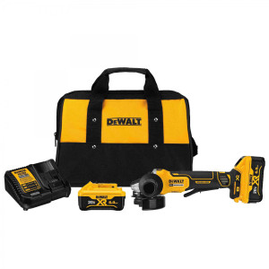 "Dewalt DCG413R2  The NEW 4.5"" 20V MAX Brushless Paddle Switch Angle Grinder Kit With Kickback Brake  - 6.0Ah Kit"