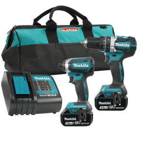 Makita DLX2180S  18V LXT BRUSHLESS  2 Tool Combo 3Ah Kit