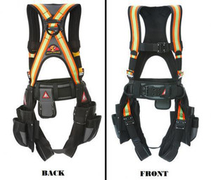 23-130-X  Super-Anchor-Safety Deluxe Tool Bag Harness, High Visibility