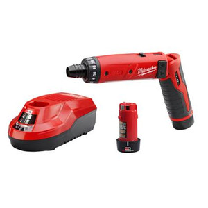 "Milwaukee 2101-22  M4 1/4"" Hex Screwdriver Kit With Batteries"