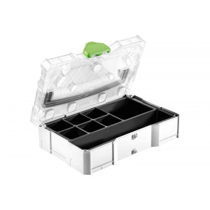 Festool FES-203821  MINI T-LOC Systainer W/ Transparent Lid & Insert