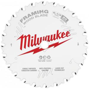 "Milwaukee 48-40-0620  6-1/2"" 24 Tooth Framing Circular Saw Blade"