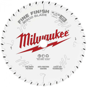 "Milwaukee 48-40-0622  6-1/2"" 40 Tooth Fine Finish Circular Saw Blade"
