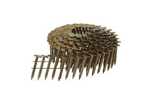 "Hitachi HIT-12111  1-1/4"" Wire Coil Electro Galvanized Roofing Nails (7200 Pack)"