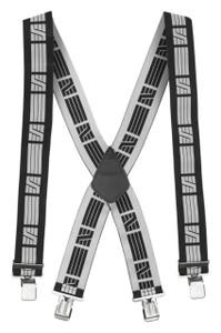 Snickers Elastic Suspenders (Black - Grey)