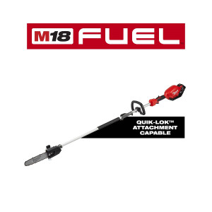 "Milwaukee 2825-21PS M18 FUEL 10"" Pole Saw Kit With QUIK-LOK Attachment Capability"