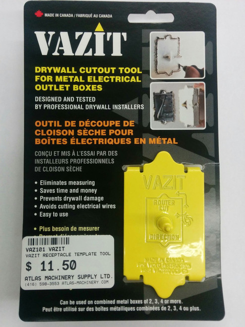 VAZIT- Drywall Cutout Tool - Electrical Outlet Boxes - Atlas ...