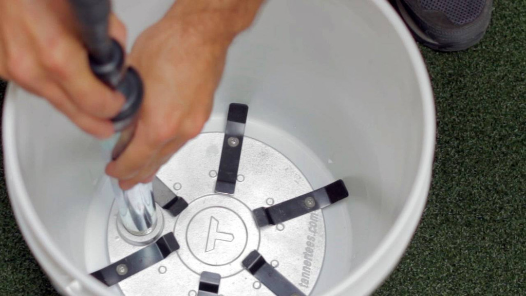 Once the Tanner BTI is installed in the bucket, secure your Tanner Tee stem into the BTI