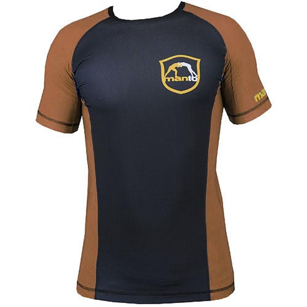 "Rashguard ""Emblem"" Brown IBJJF Approved"