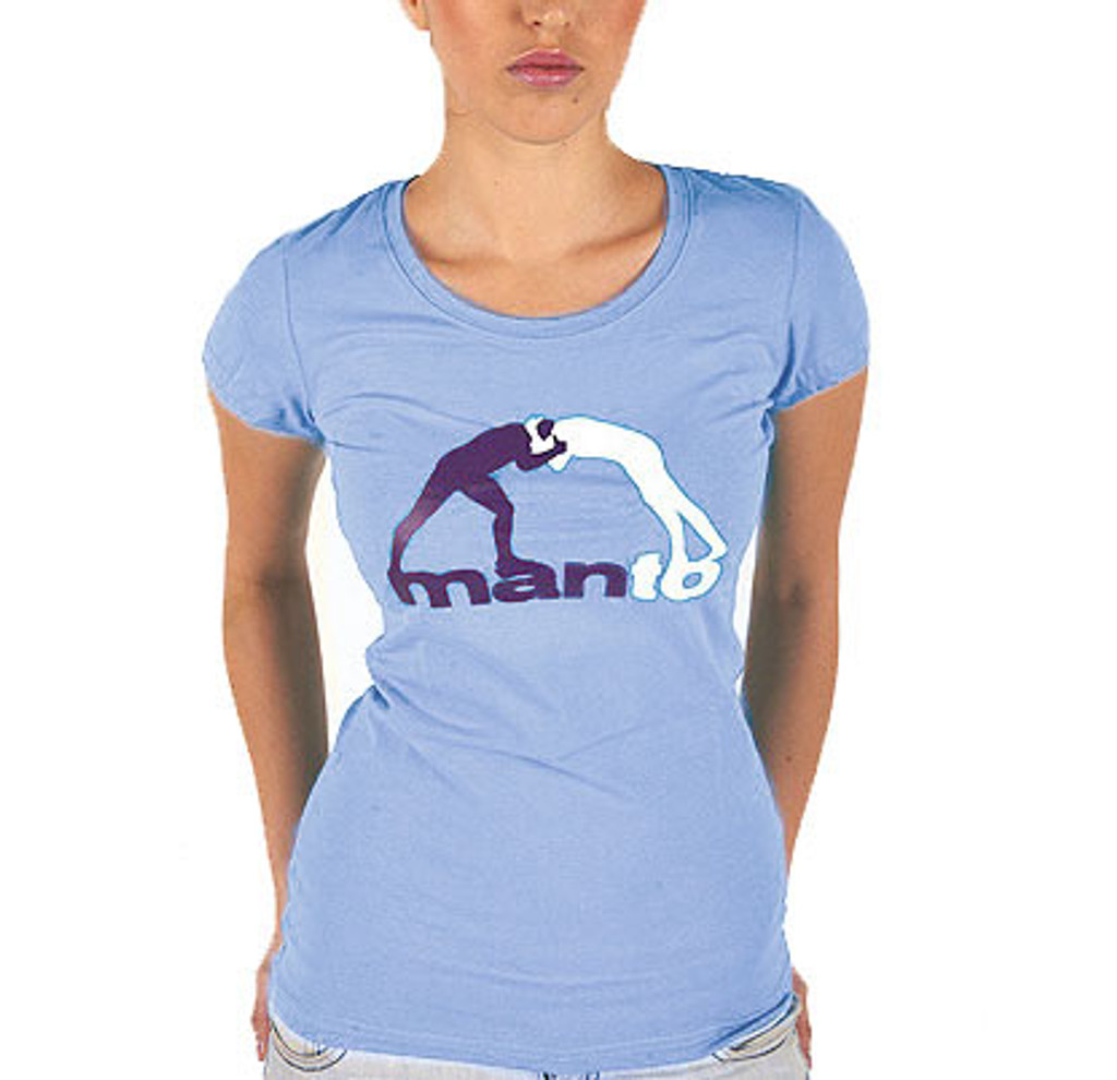 "MANTO ""CLINCH"" T-SHIRT Light Blue for Women"