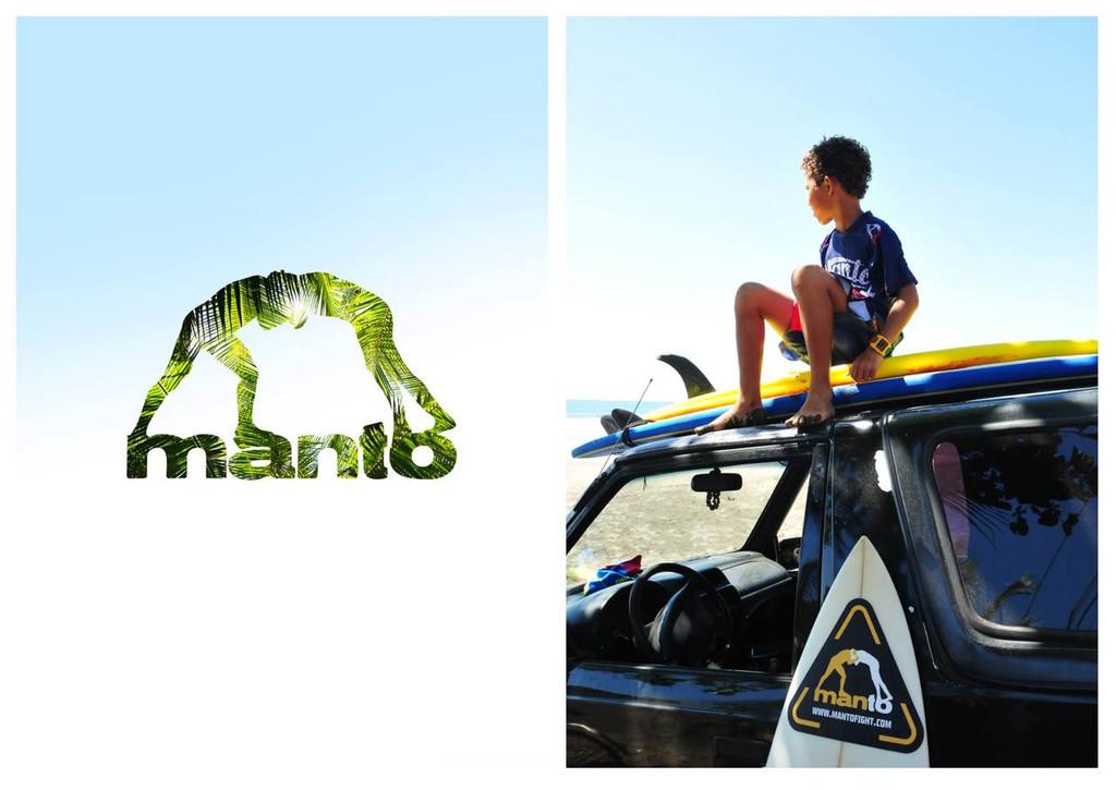 "MANTO ""WARRIORS"" RASH GUARD Blue for Kids"