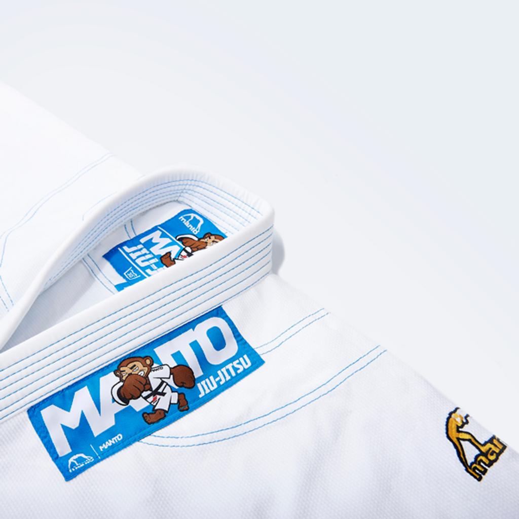 "Manto ""Monkey"" GI for Kids - White"