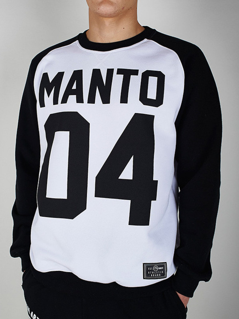 """MANTO """"ZEROFOUR"""" SWEATER White/Black"""