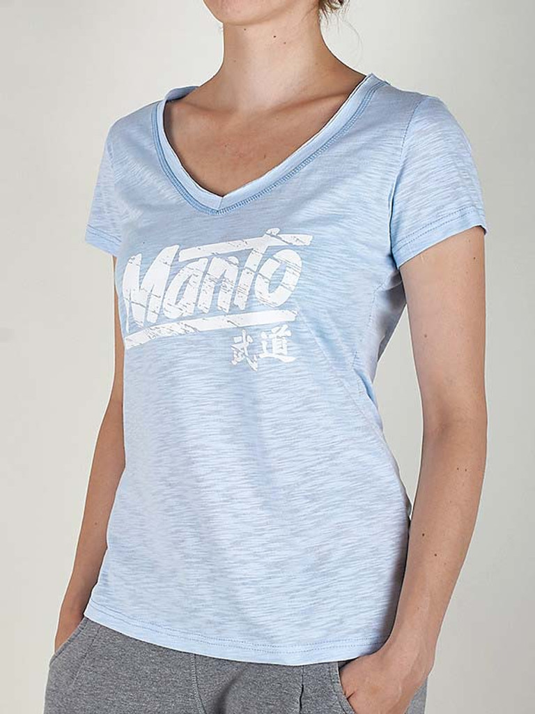 "MANTO ""AKIKO"" T-SHIRT Azure for Women"