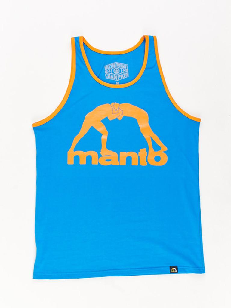"MANTO ""VIBE"" TANK TOP Blue"