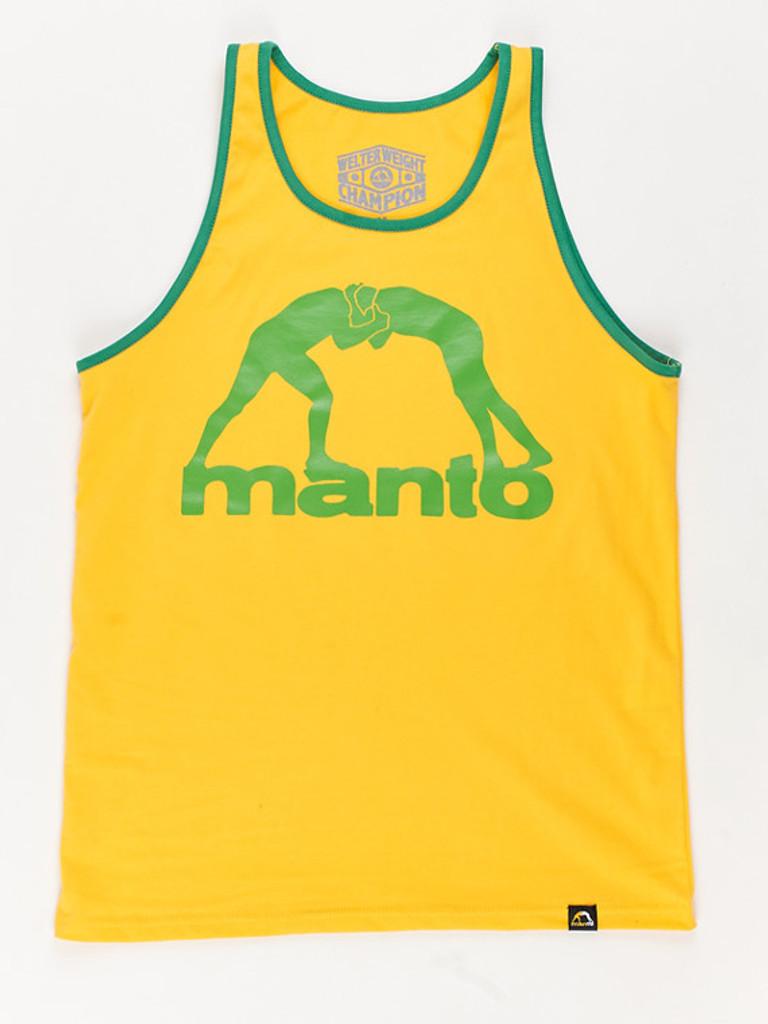 "MANTO ""VIBE"" TANK TOP Yellow"