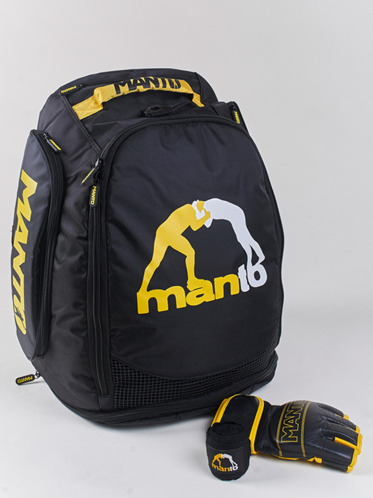MMA Gloves not included, used only to show backpack scale