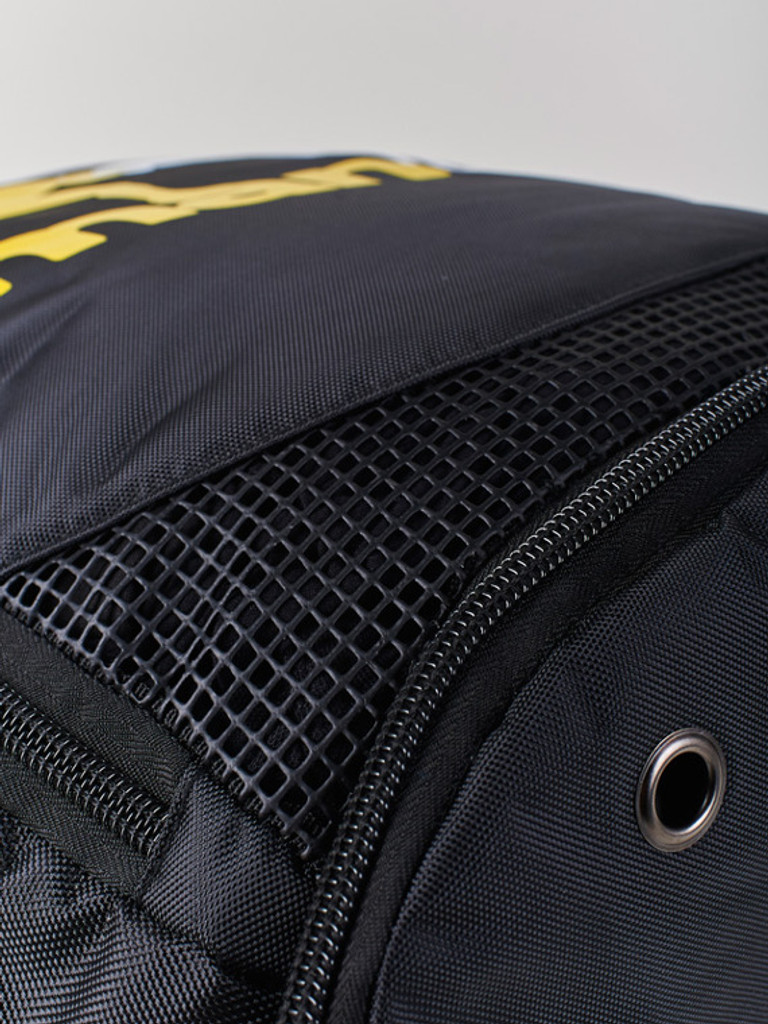 Breathable mesh will allow wet training gear to dry