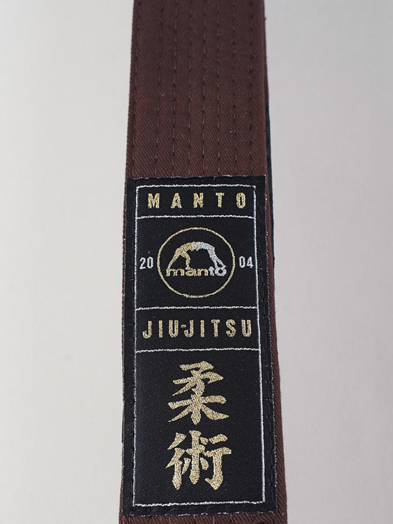 "MANTO ""ARTE SUAVE"" PREMIUM BELT  Brown for Jiu-Jitsu"