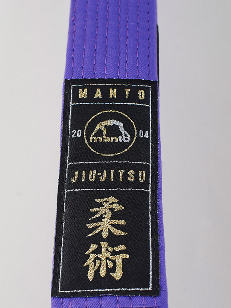 "MANTO ""ARTE SUAVE"" PREMIUM BELT Purple for Jiu-Jitsu"