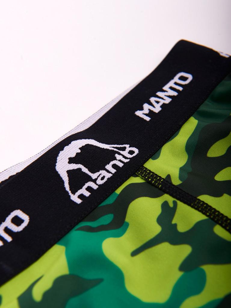 "MANTO ""CAMO"" Compression Shorts Green"