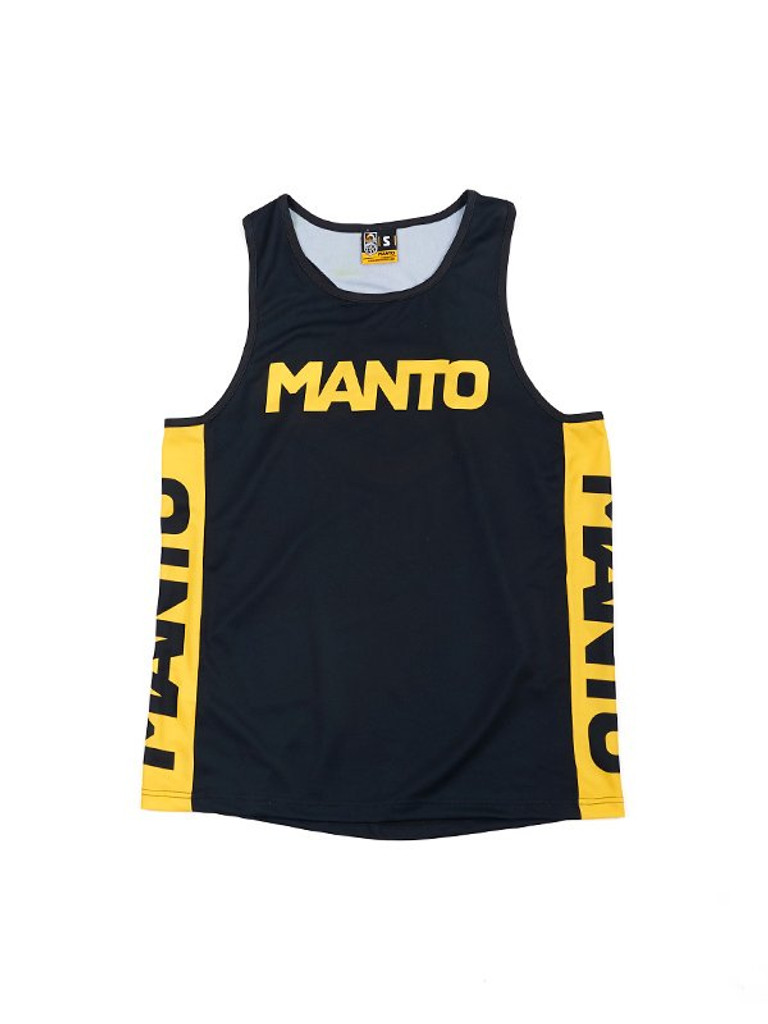 "MANTO ""RING"" TANK TOP Black & Yellow"